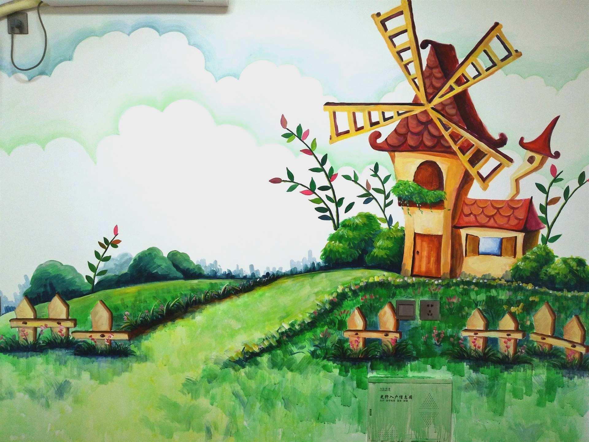 上饶墙上绘画,上饶美丽乡村墙体彩绘,上饶墙绘墙体彩绘,上饶3d画墙绘