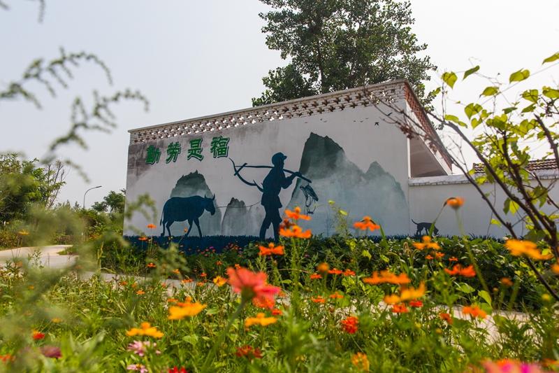 上饶美丽乡村墙画手绘,上饶背景墙,上饶墙体壁画,上饶外墙墙绘